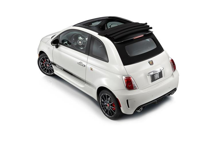 Abarth 595 C Cabrio 1.4 T-Jet 165PS Turismo 2Dr Manual back view